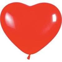 Сердце (6''/15 см) Красный (015), пастель, 100 шт.