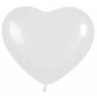 Сердце (6''/15 см) Белый (005), пастель, 100 шт.