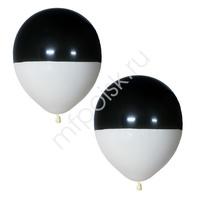 """M 12""""/30см Пастель Bicolor BLACK & WHITE 25шт"""