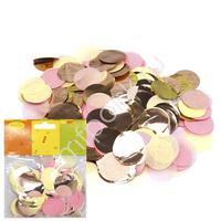 Y Конфетти бумага/фольга Круги золото/розовый/шампань 2,5см 14гр