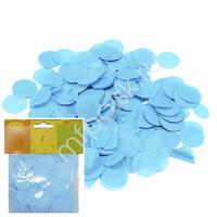 Y Конфетти бумажное Круги голубые 2,5см 14гр