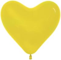 Сердце (6''/15 см) Желтый (020), пастель, 100 шт.