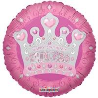 """K Круг 712 С Днем Рождения Корона принцессы 18""""/45см"""