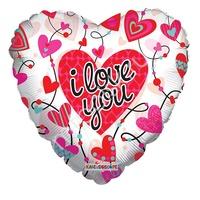 """K Сердце 678 Любовь Сердца с орнаментом прозрачный 18""""/45см"""