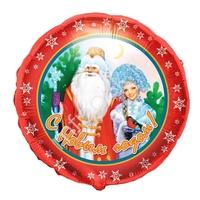 "K Круг РУС-52 Дед Мороз и Снегурочка 18""/45см"