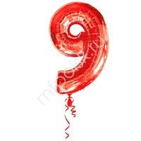 A Фигура Цифра 9 красная 66см X 86см