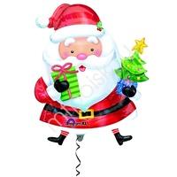 A Фигура Новый Год Санта с ёлочкой 71см Х 71см