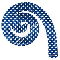 """K Спираль ROYAL BLUE в горошек 14""""/36см"""