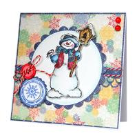 Снеговик со скворечником