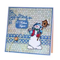 Снеговик со скворечником 2