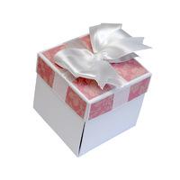 Открытка-коробочка нежно-розовый