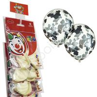 """M CS 12""""/30см Декоратор TRANSPARENT наполнение сердца конфетти фольга серебро 2шт (оптовая цена)"""