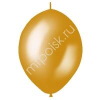 "M 12""/30см Шар LINKING Металлик GOLD 50шт"
