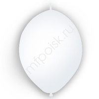 "M 12""/30см Шар LINKING Декоратор WHITE 50шт"
