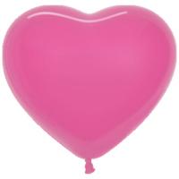 Сердце (6''/15 см) Фуше (012), пастель, 100 шт.