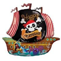 """K Фигура 714 С Днем Рождения Пиратский корабль 36""""/91см"""
