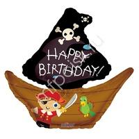 """K Фигура 733 С Днем Рождения Пиратский корабль 28""""/71см"""