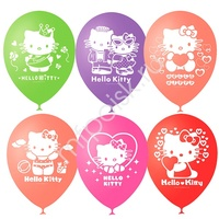 """M 12""""/30см Пастель+Декоратор (шелк) 2 ст. рис Hello Kitty 50шт"""