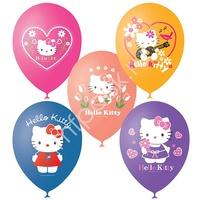 """M 12""""/30см Пастель+Декоратор (шелк) 1 ст. 3 цв. рис Hello Kitty 25шт"""