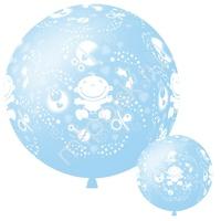 """M 36""""/91см Декоратор SKY BLUE (шелк) 6 ст. рис С Днем Рождения Малыш 1шт"""