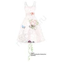 A Фигура Свадебное платье розовое 91см X 61см