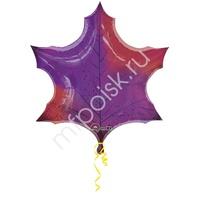A Фигура Кленовый лист фиолетовый 64см X 64см