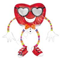 A Ходячая фигура Сердце в очках